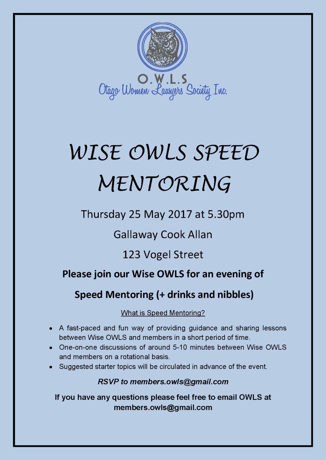 Speed Mentoring Invite