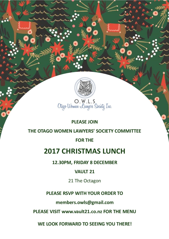Xmas lunch invitation